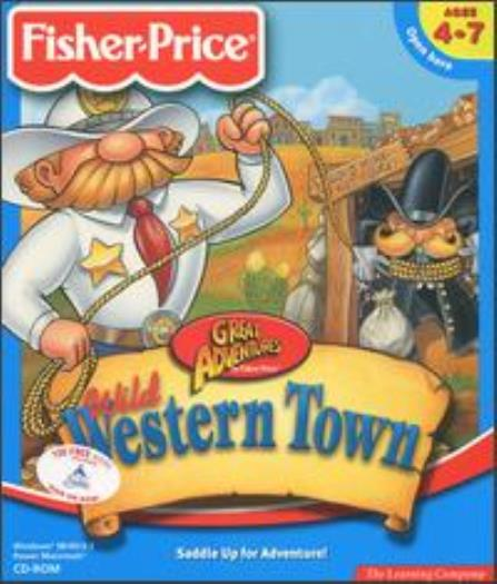 Fisher Price Great Adventures Wild Western Town Pc Mac Cd Learn Reading Kid Game Ebay